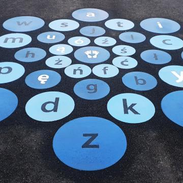 Alfabet 250x250 cm